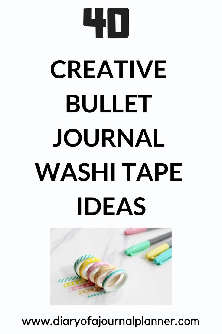 Creative bullet journal washi tape ideas #washi #washitape #bulletjournal