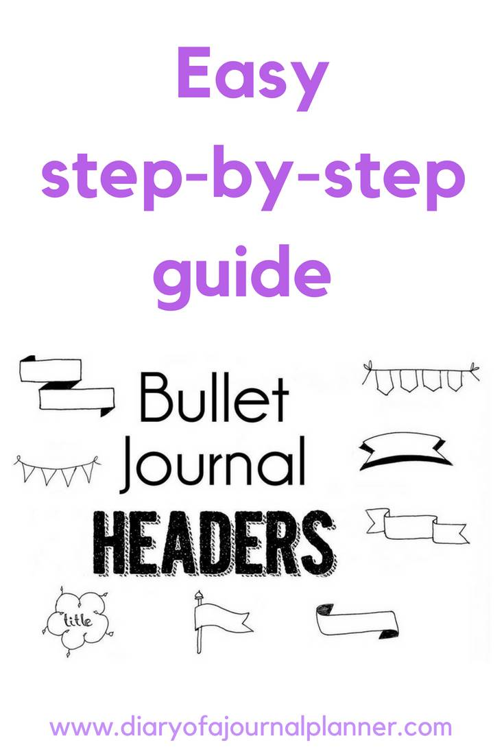 Bullet journal headers easy step by step tutorial #headers #banners #tittle #bulletjournal #bujo