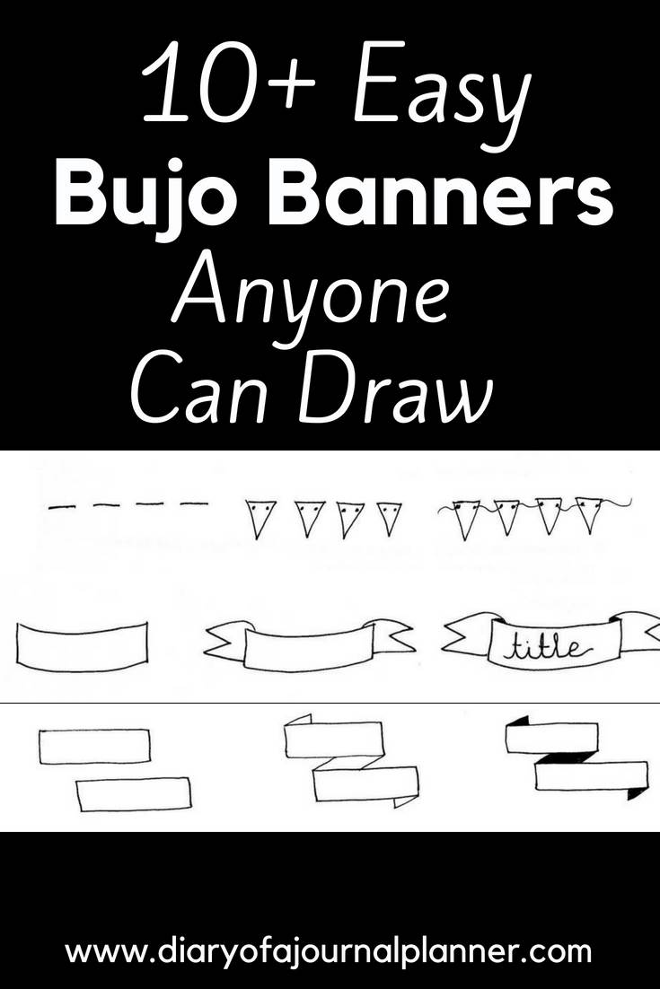 Easy bujo banners anyone can draw #headers #banners #tittle #bulletjournal #bujo