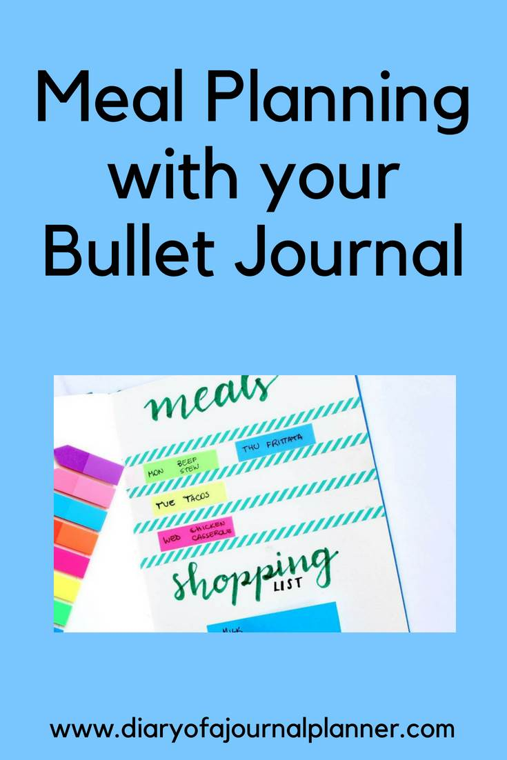 Meal planning with your bullet journal #mealplan #bulletjournal #bujo #journaling #planning
