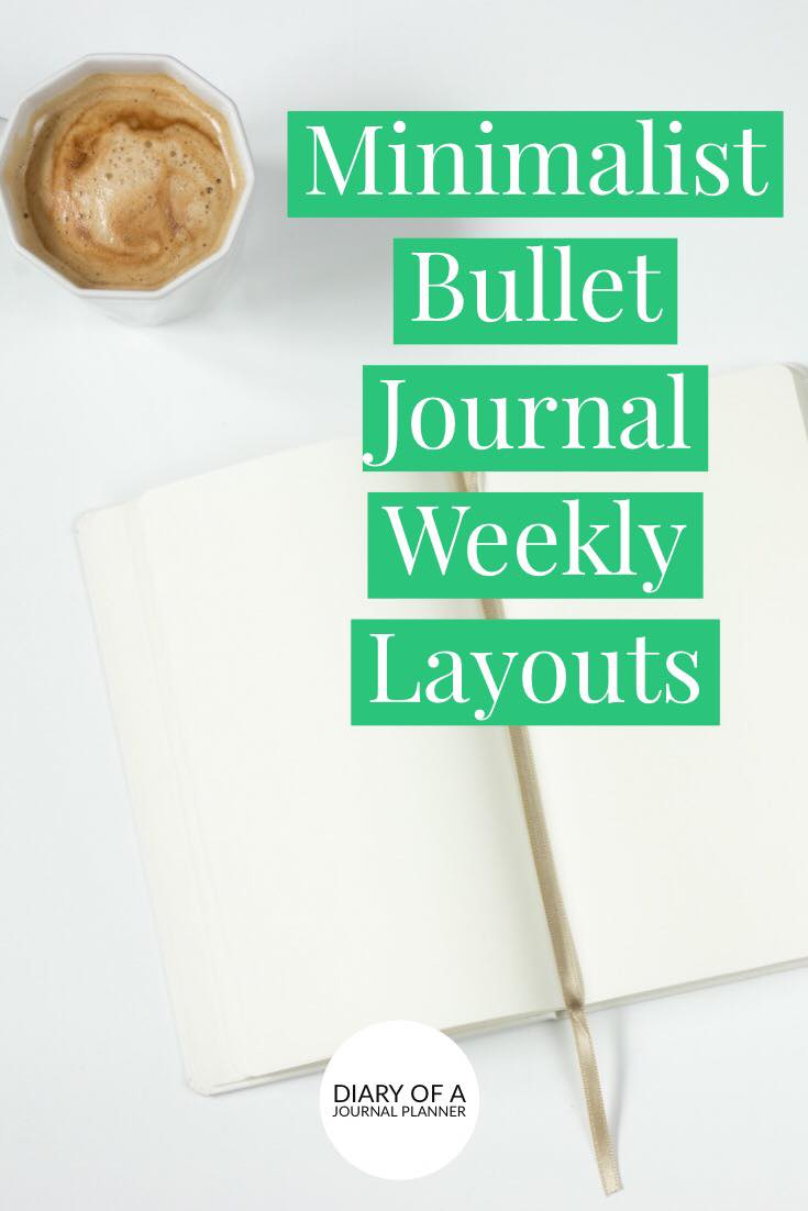 Buso Weekly spread ideas for minimalists or those that like to keep a simple bullet journal