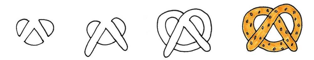 How to draw a pretzel