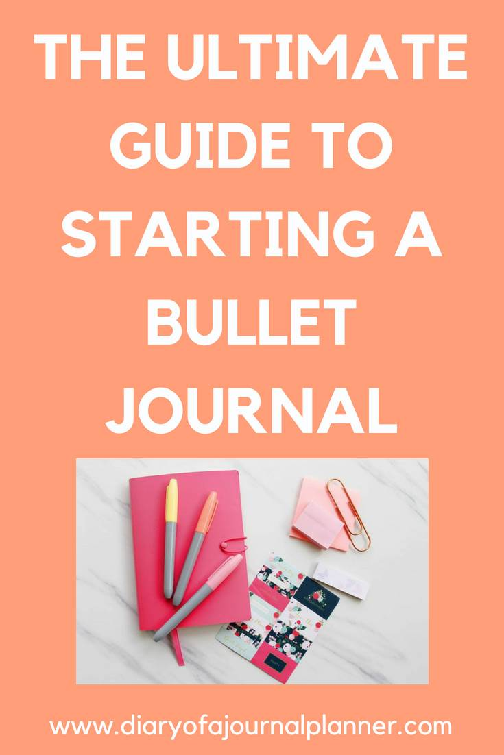The ultimate guude to starting a bullet journal #bulletjournal #bujo #journaling #planning