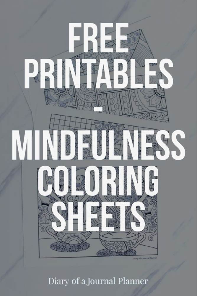 free mindfulness coloring sheets printable