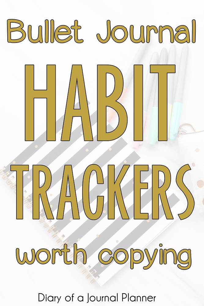 Bullet Journal Habit Trackers worth copying #bulletjournal #bujo #habittracker #bulletjournalhabittracker