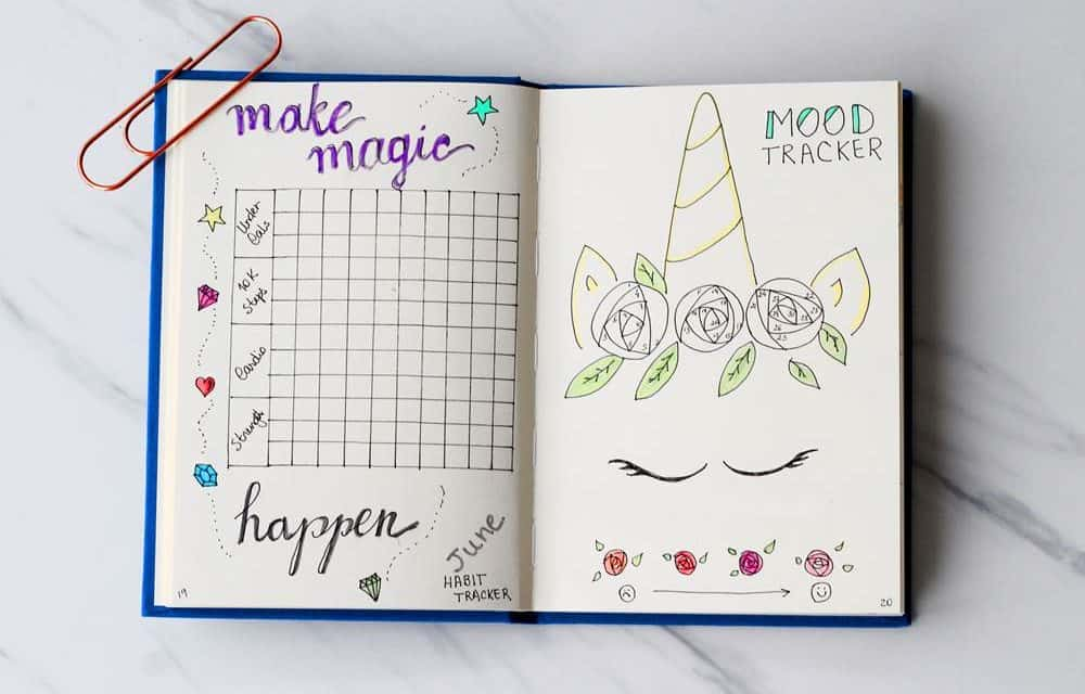 how to use a bullet journal habit tracker