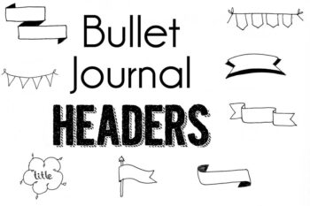 Bullet Journal Headers and banners
