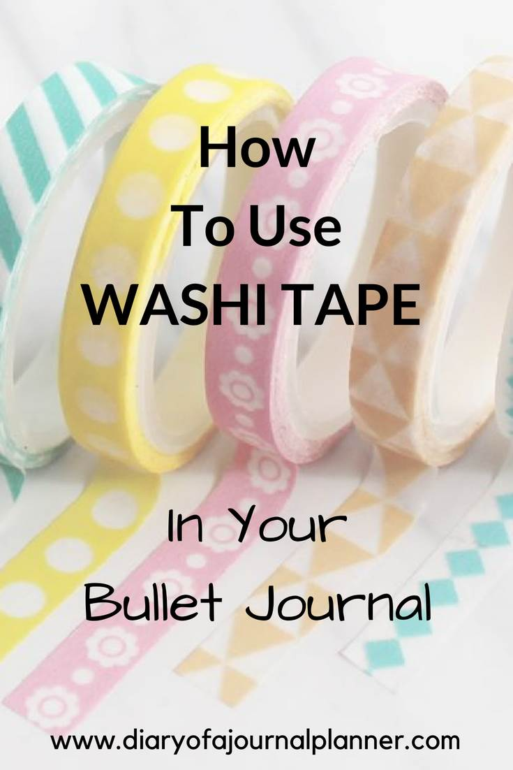 How to use washi tape in your bullet journal #washi #washitape #bulletjournal