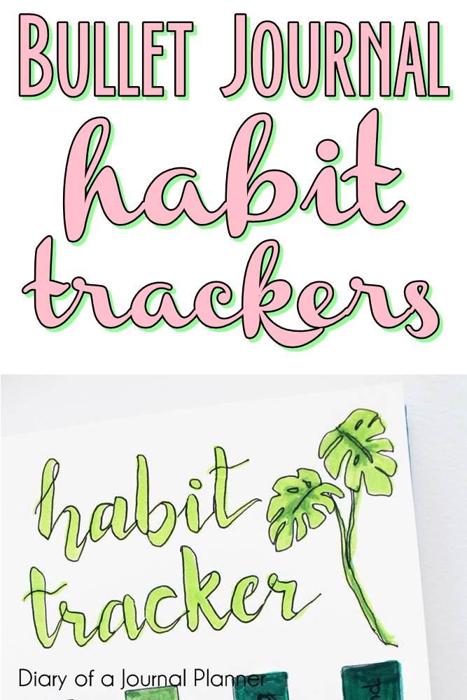 Bullet Journal Habit Trackers #bulletjournal #bujo #habittracker #bulletjournalhabittracker