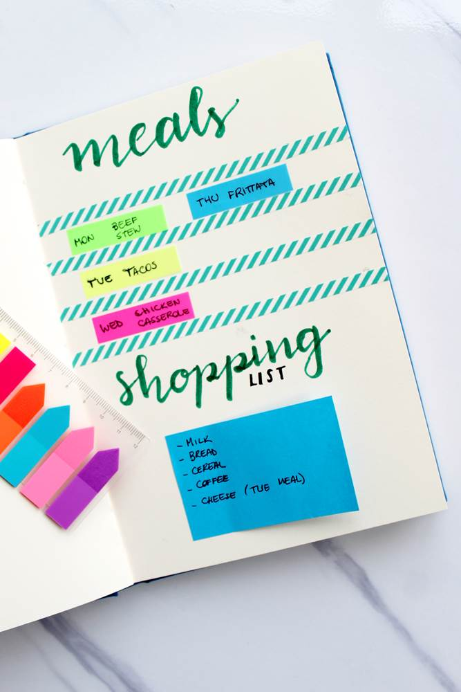 A meal planjournal template to help you with food planning and prepping