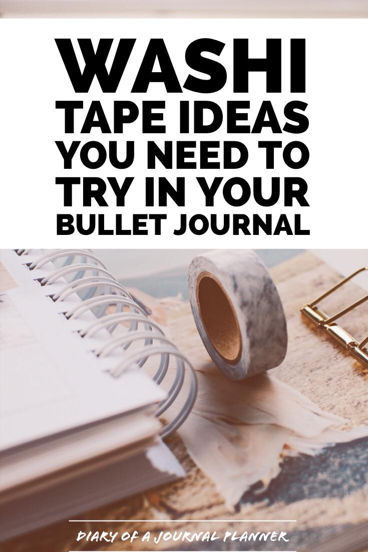 I Need Ideas For Decorating My Living Room: 40 Creative Bullet Journal Washi Tape Ideas