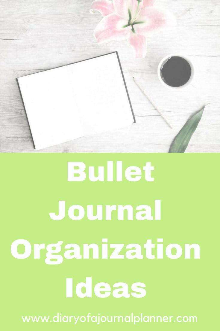 Bullet Journal organization Ideas to improve productivity