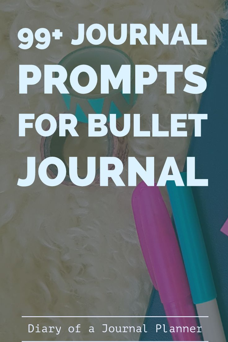 Journal prompts for bullet journal