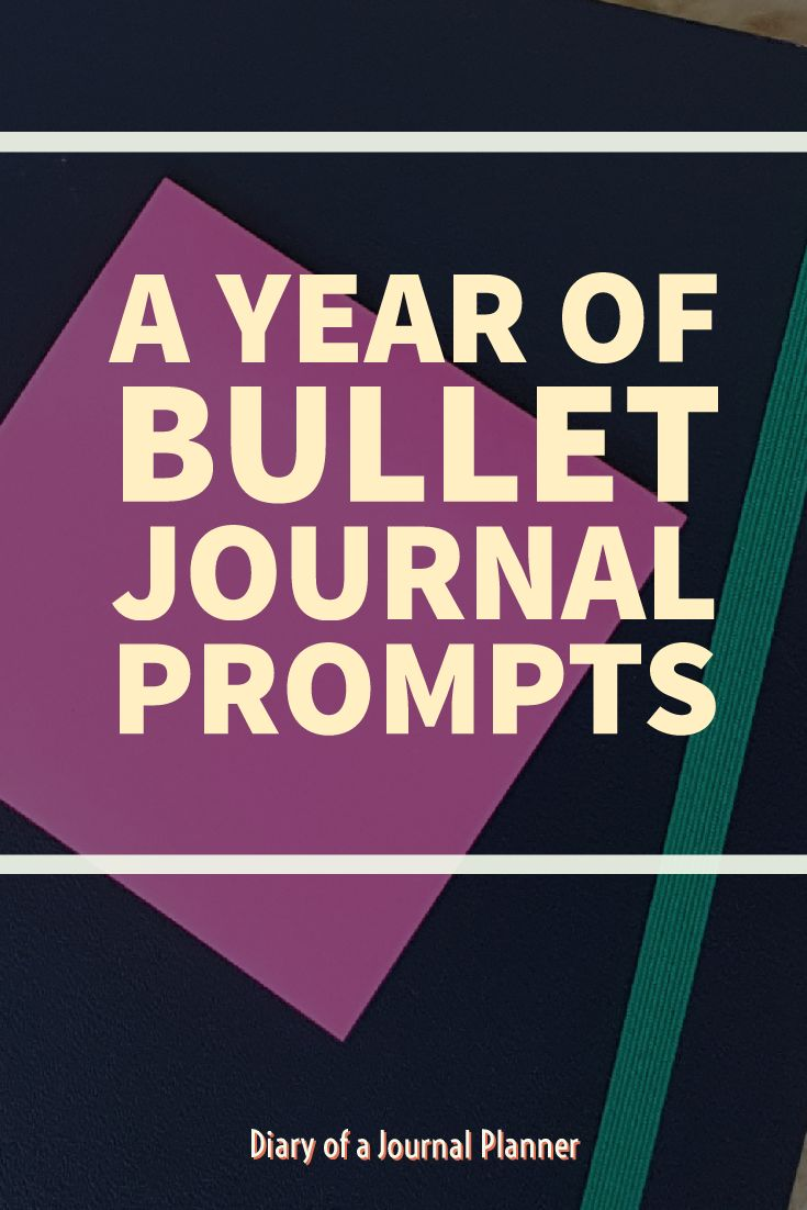 Bullet Journal prompts