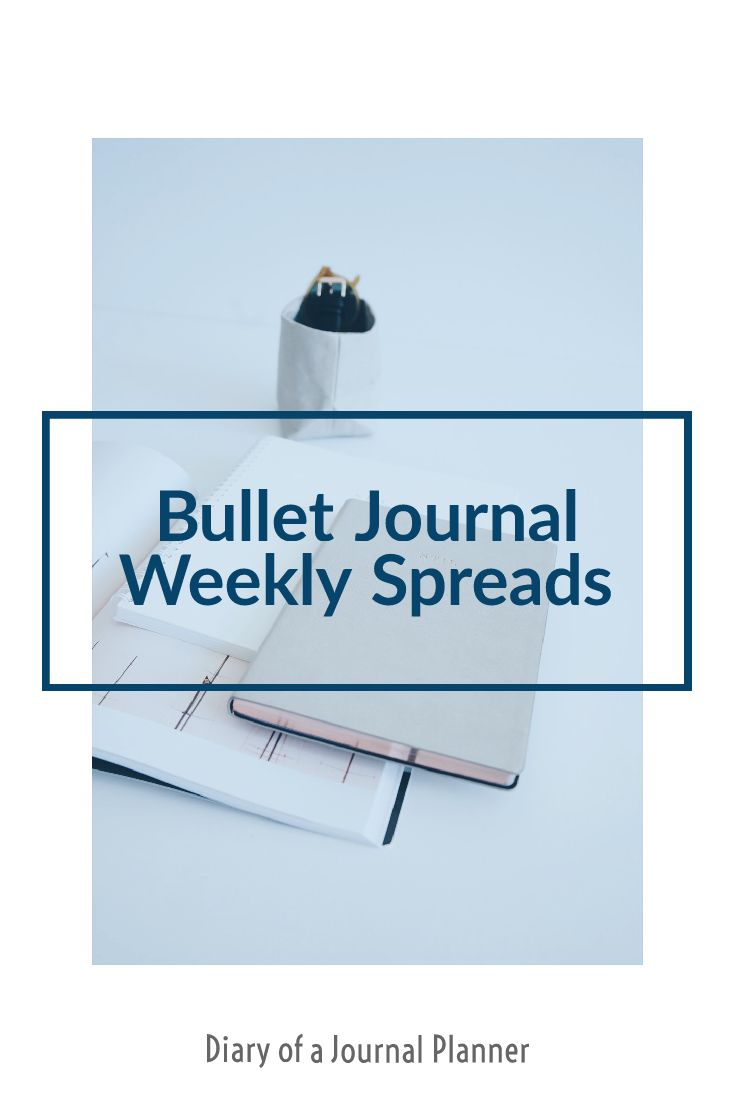 Amazing ideas for your bullet journal weekly spread