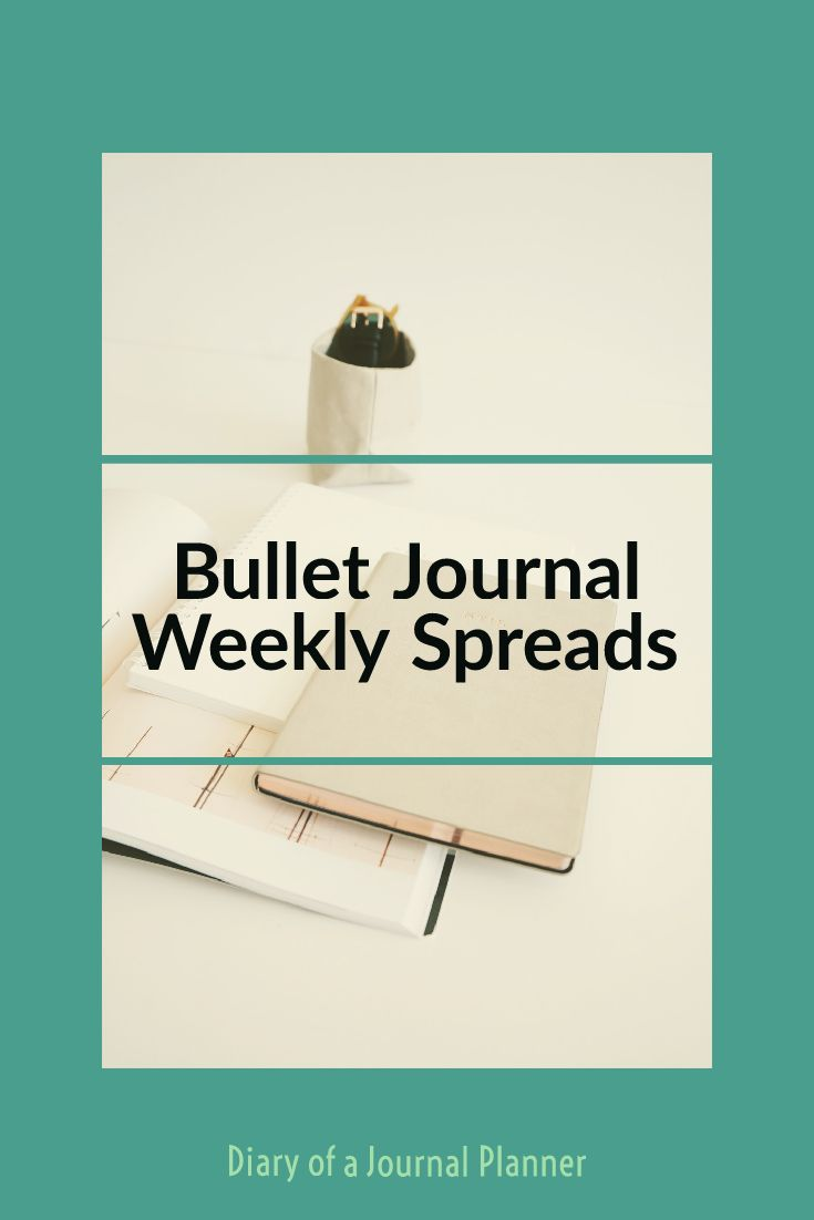 Bullet journal weekly spreads to copy