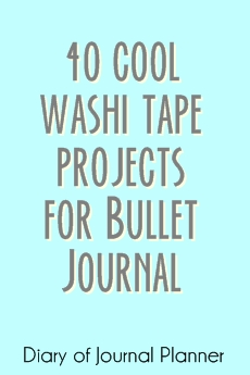 washi tape projects for bullet journal