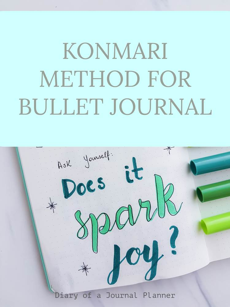 The konmari method for bullet journal