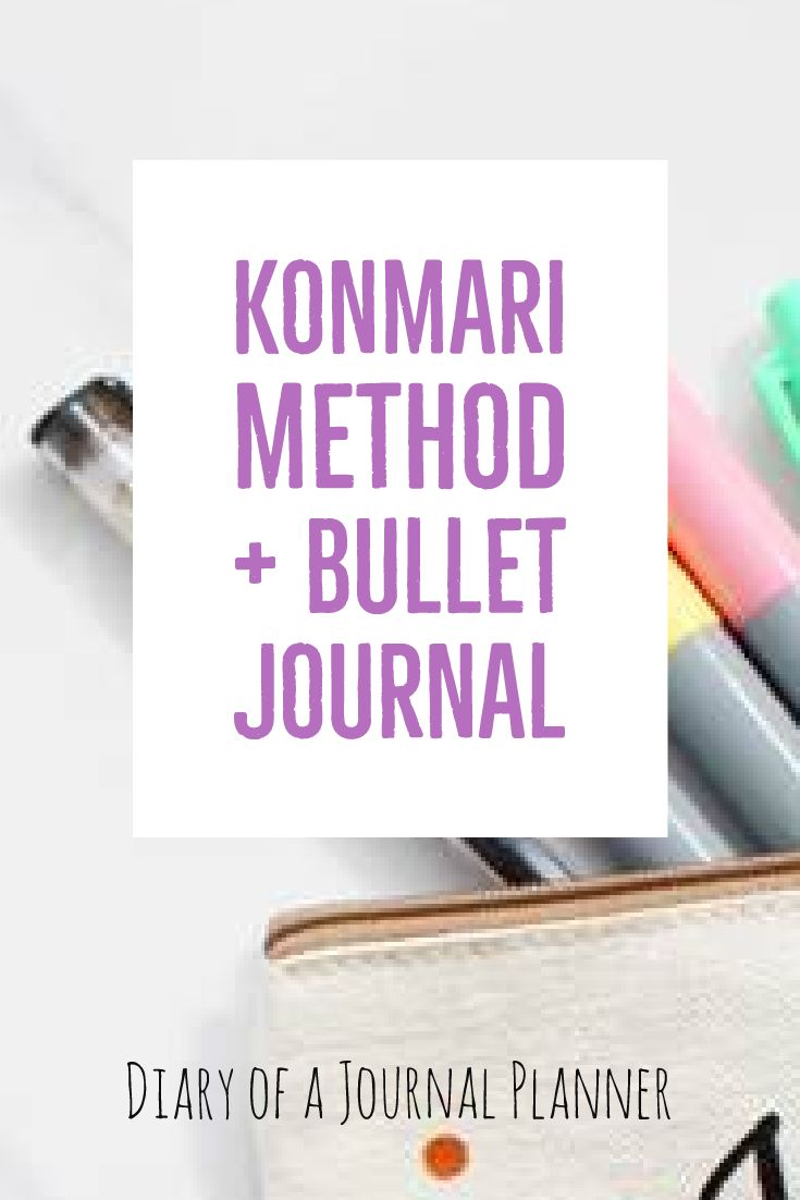 Konmari checklist bullet journal