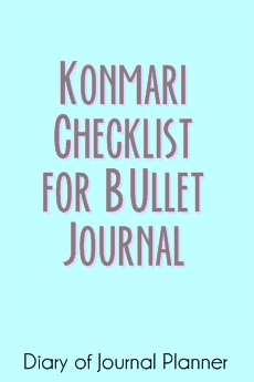 konmari checklist for bullet journal