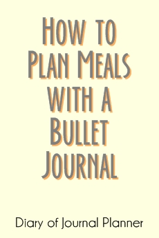 meal planning with bullet journal