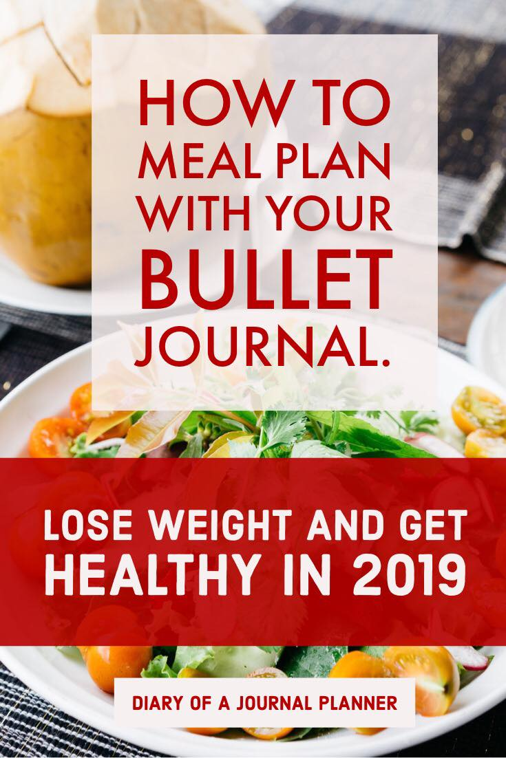 Meal plan for weightless with a Bullet Journal. Easy meal planning with bujo and meal planning ,meal plan ideas.