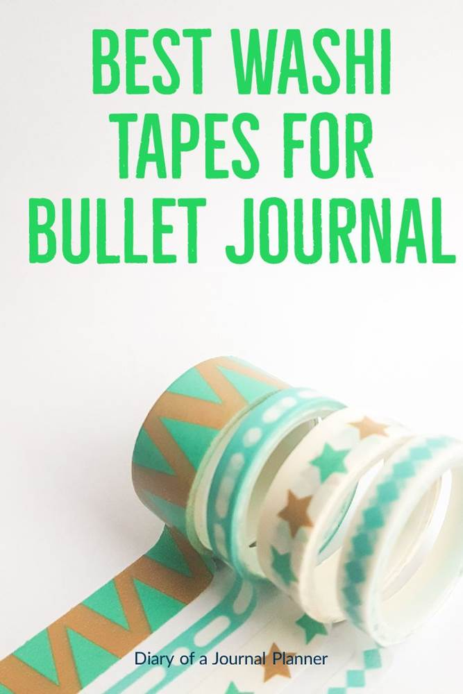 Best washi tape for bullet journal #washi #washitape #washitapeprojects #dailyplanners #lifeplanners #bulletjournal #bujo