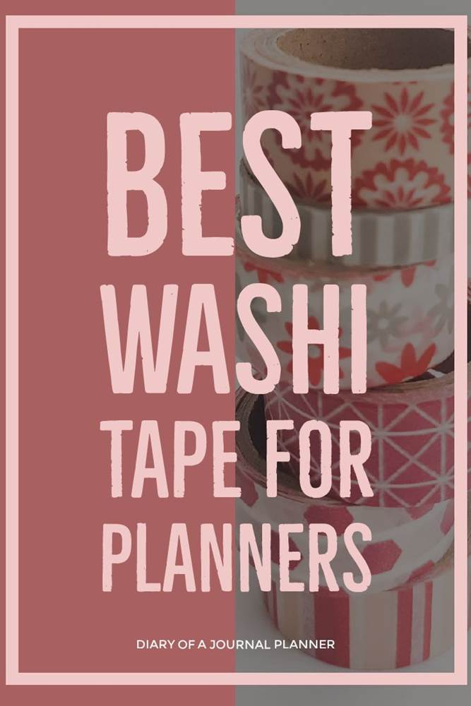 Best washi for planners #washi #washitape #washitapeprojects #dailyplanners #lifeplanners #bulletjournal #bujo
