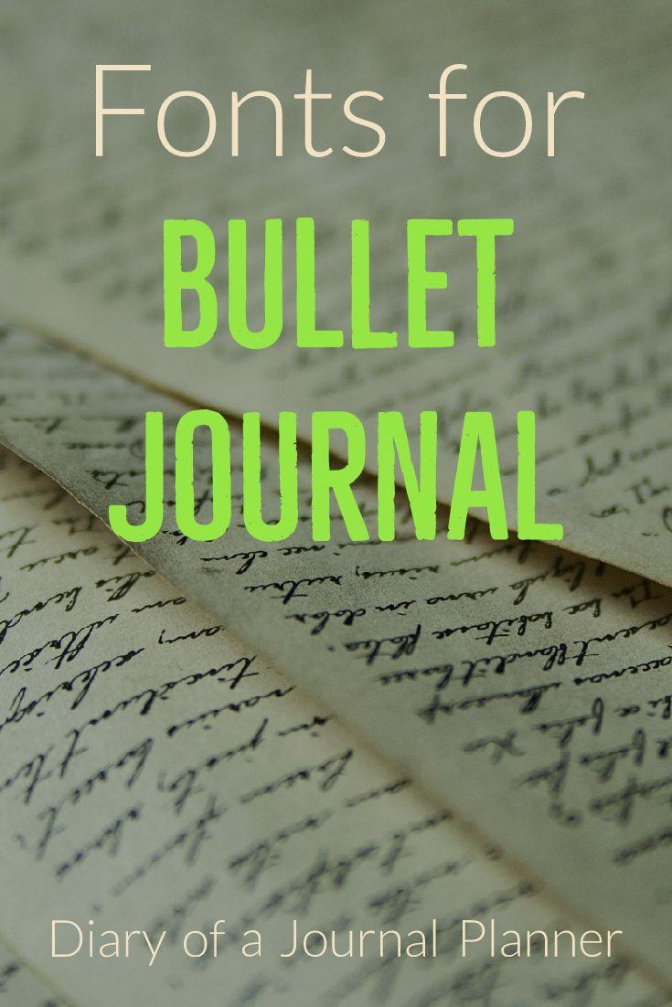 Bullet journaling fonts