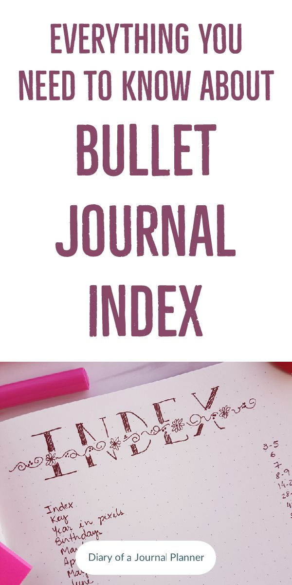 Simple bullet journal index design ideas and how to use it to find your revisited content easily.