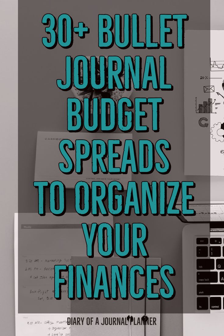 bullet journal budget and expense tracker ideas to control your finances