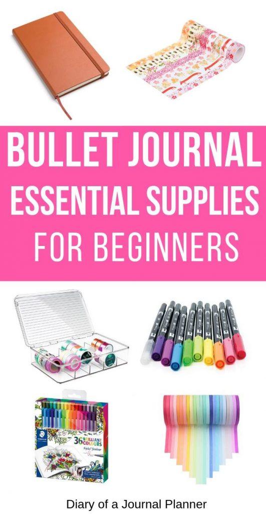 Bullet Journal Supply essentials
