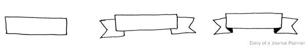 bullet journal doodle header