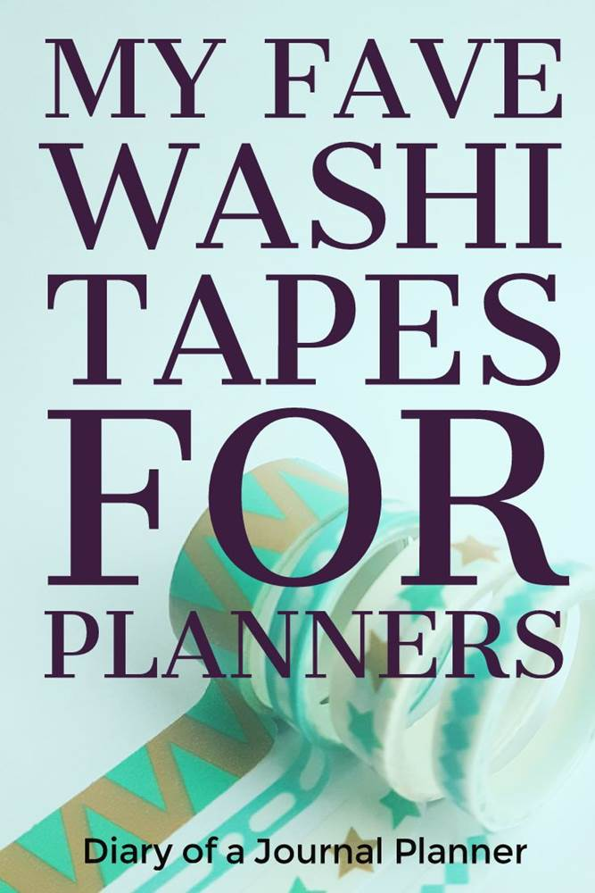 My favorite washi tapes for planners and bullet journals #washi #washitape #washitapeprojects #dailyplanners #lifeplanners #bulletjournal #bujo