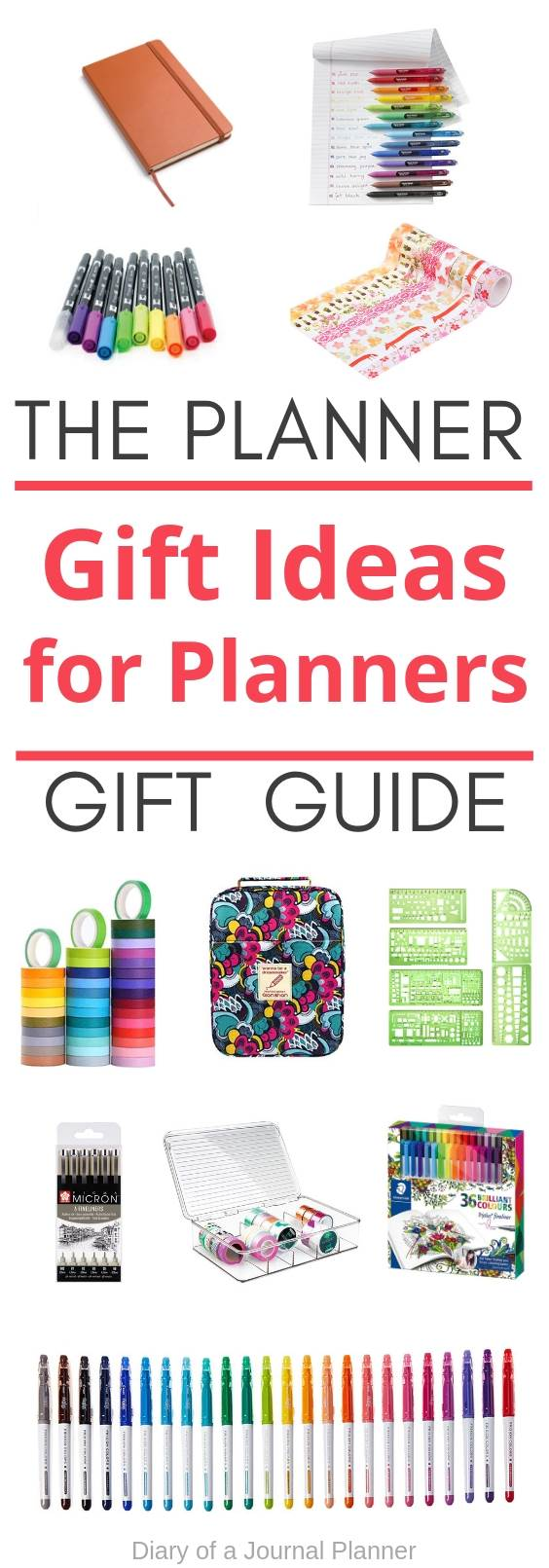 the planner gift guide, gift ideas for planners and bujo lovers
