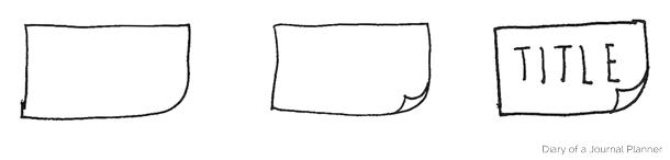 bullet journal notes doodles