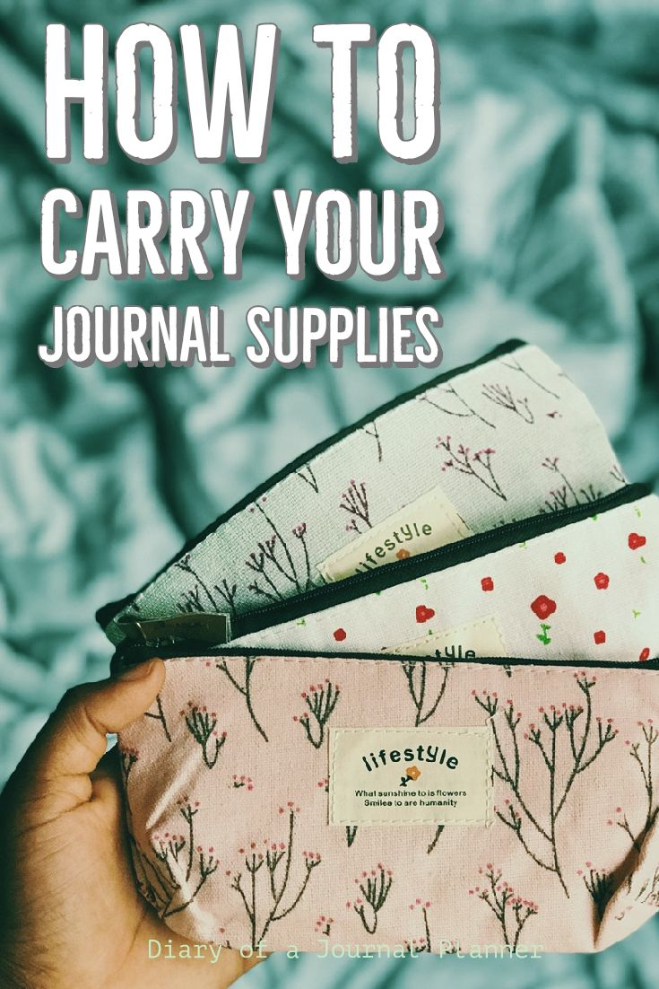 Take all your planning supplies with you with these clever storage and carry on ideas to protect your notebooks, planner, washi tape, pens, stencils, and other journal products.