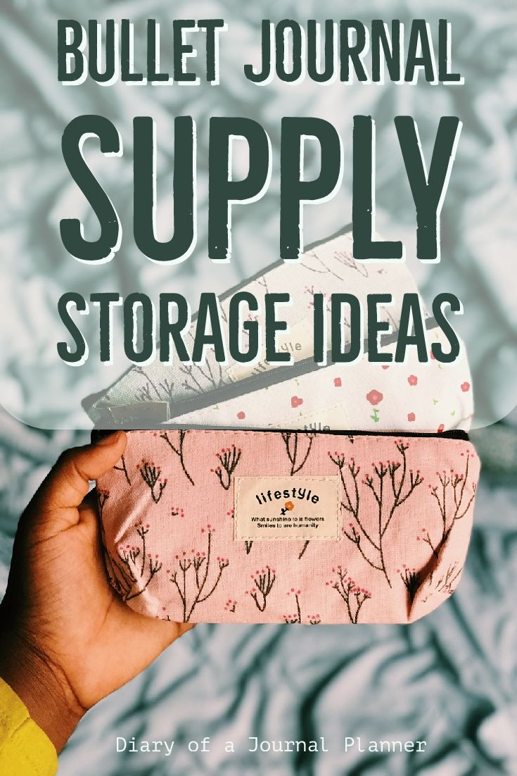 Best bullet journal storage case ideas for your bujo supplies. Must have organizers for planning and office supplies such as markers, pens, notebooks, sticky notes, highlighters. Find more simple ideas and inspiration in the blog post.