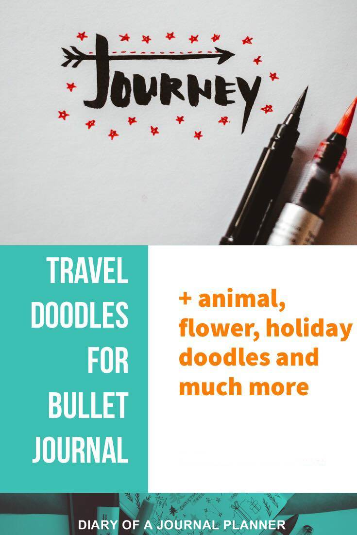 massive list of bullet journal doodle tutorials