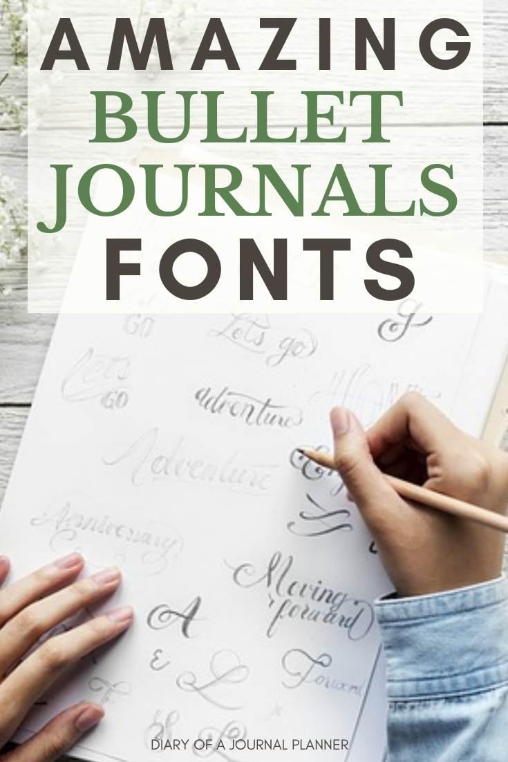 beautiful bullet journal font ideas
