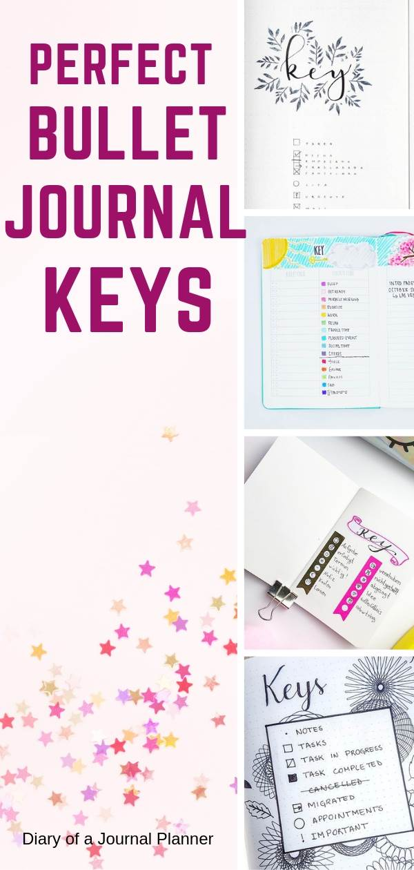 Perfect Bullet Journal keys to help you log your bujo tasks