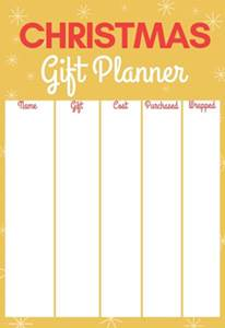 free printable christmas list