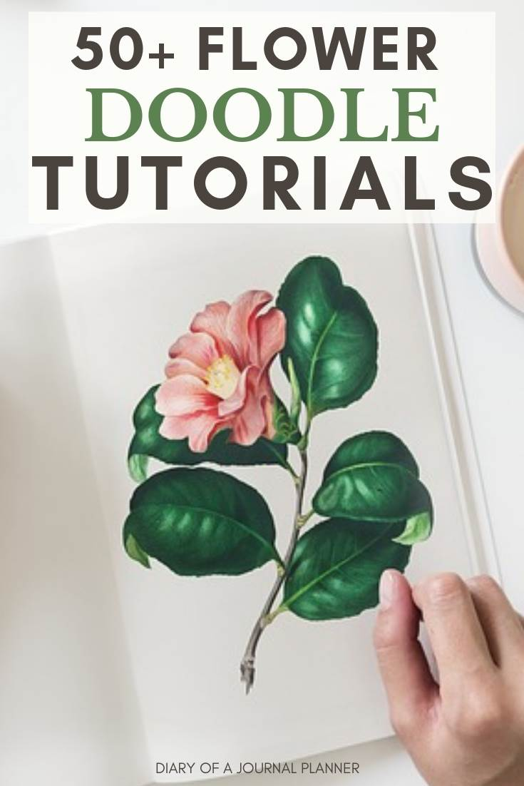 50+ easy flower doodle tutorials that anyone can follow
