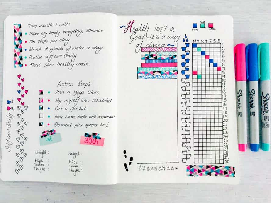 reach your goals using a bullet journal for weight loss
