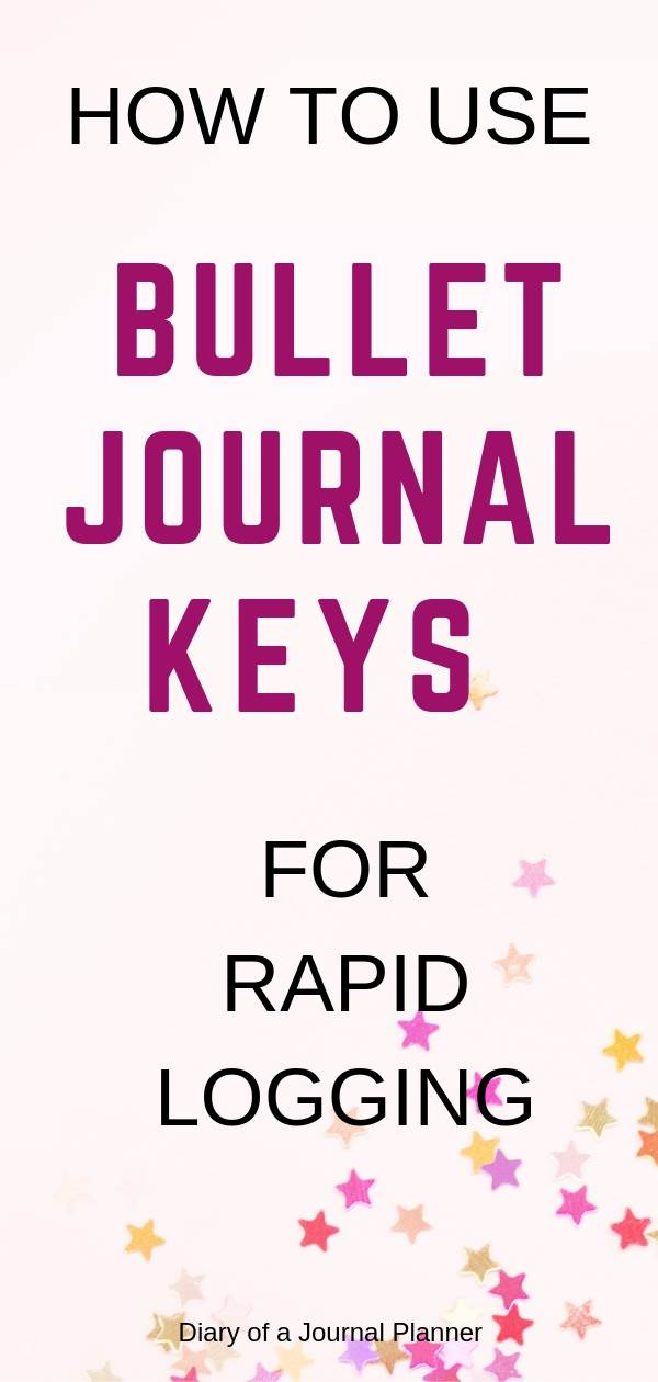 Your guide to bullet journal keys and signifiers