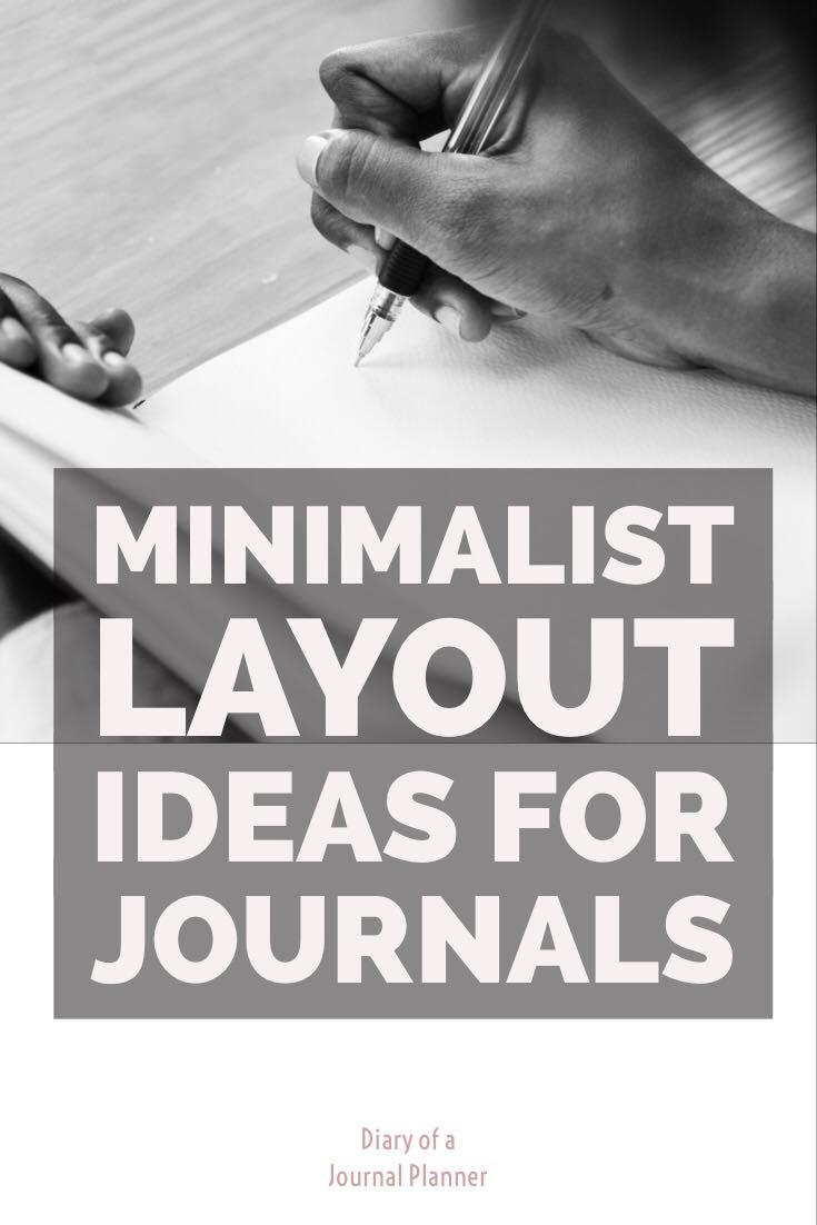 minimalist layout ideas for bullet journal