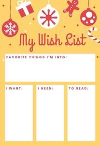 my wish list printable