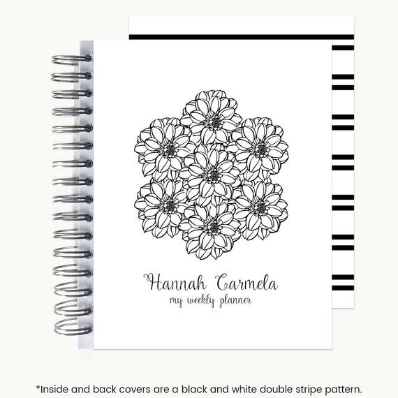 planner with name on cover