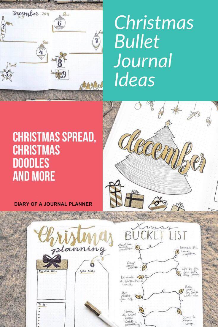 December bullet journal and Christmas ideas
