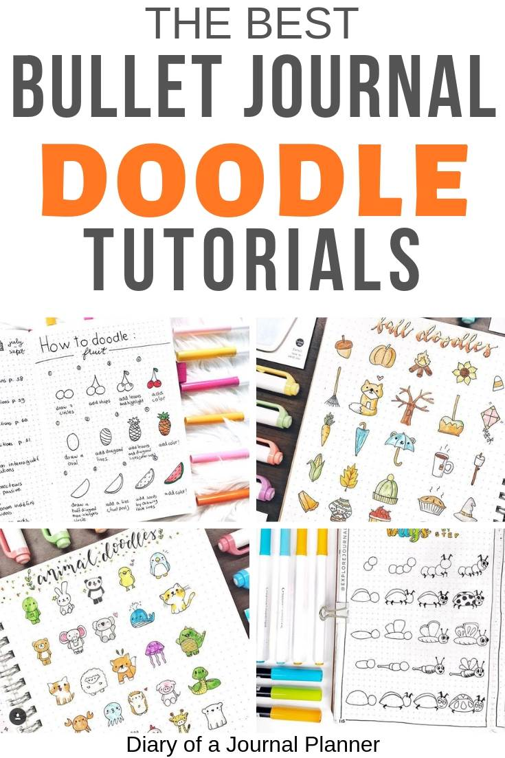 Extreem Ultimate List of Bullet Journal Doodles - 50 FREE Step-by-step &AT33